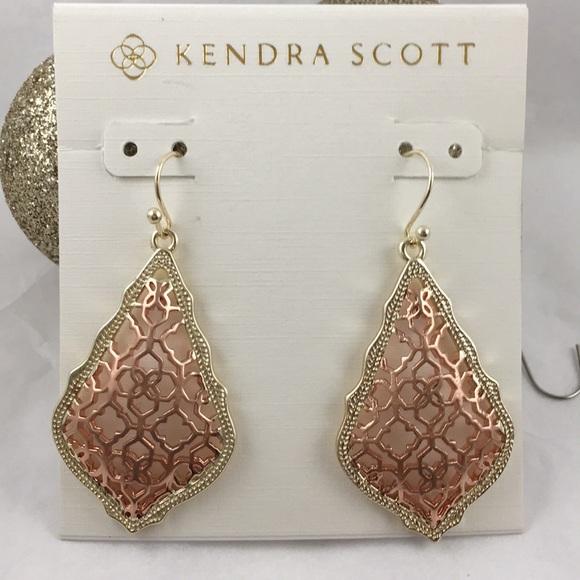 Kendra Scott Addie Drop Earrings Rose Gold/Gold